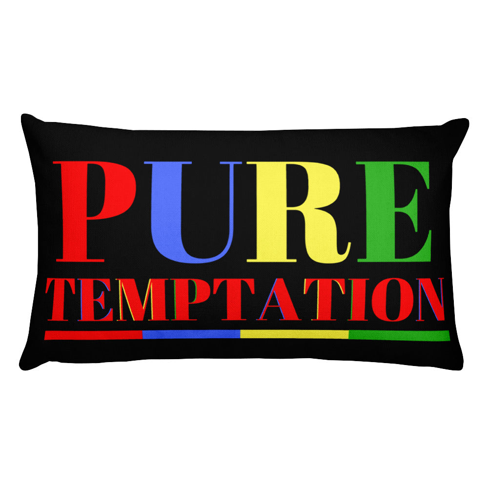 Pure Temptation Rectangular Pillow | Pillows | BFY Apparel | Streetwear & More