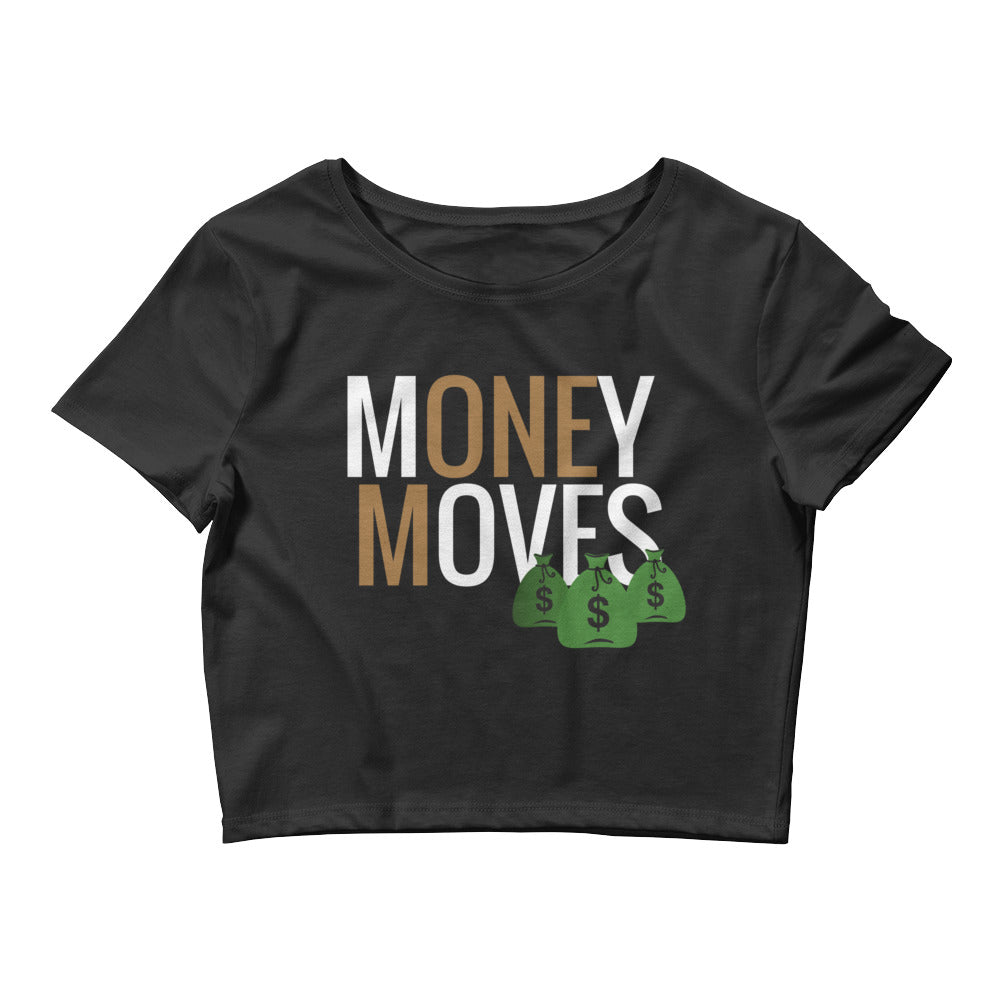 Money Moves W/ Money Bags Women's Crop Tee |  | BFY Apparel | Streetwear & More
