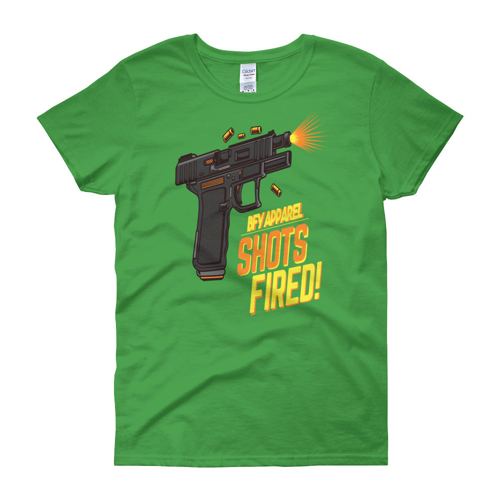 Shots Fired Women's Short Sleeve T-shirt | Shirts | BFY Apparel | Streetwear & More