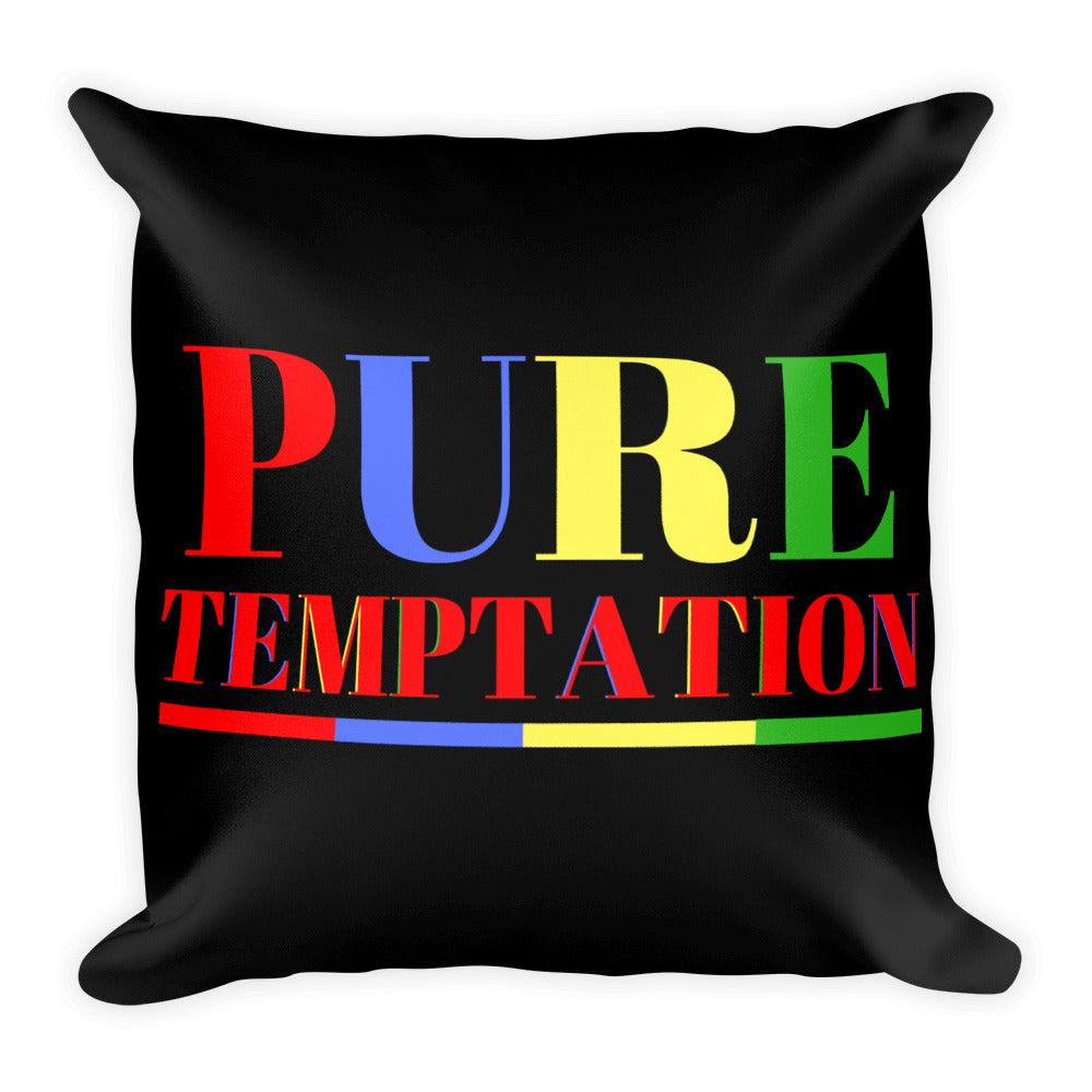 Pure Temptation Square Pillow |  | BFY Apparel | Streetwear & More