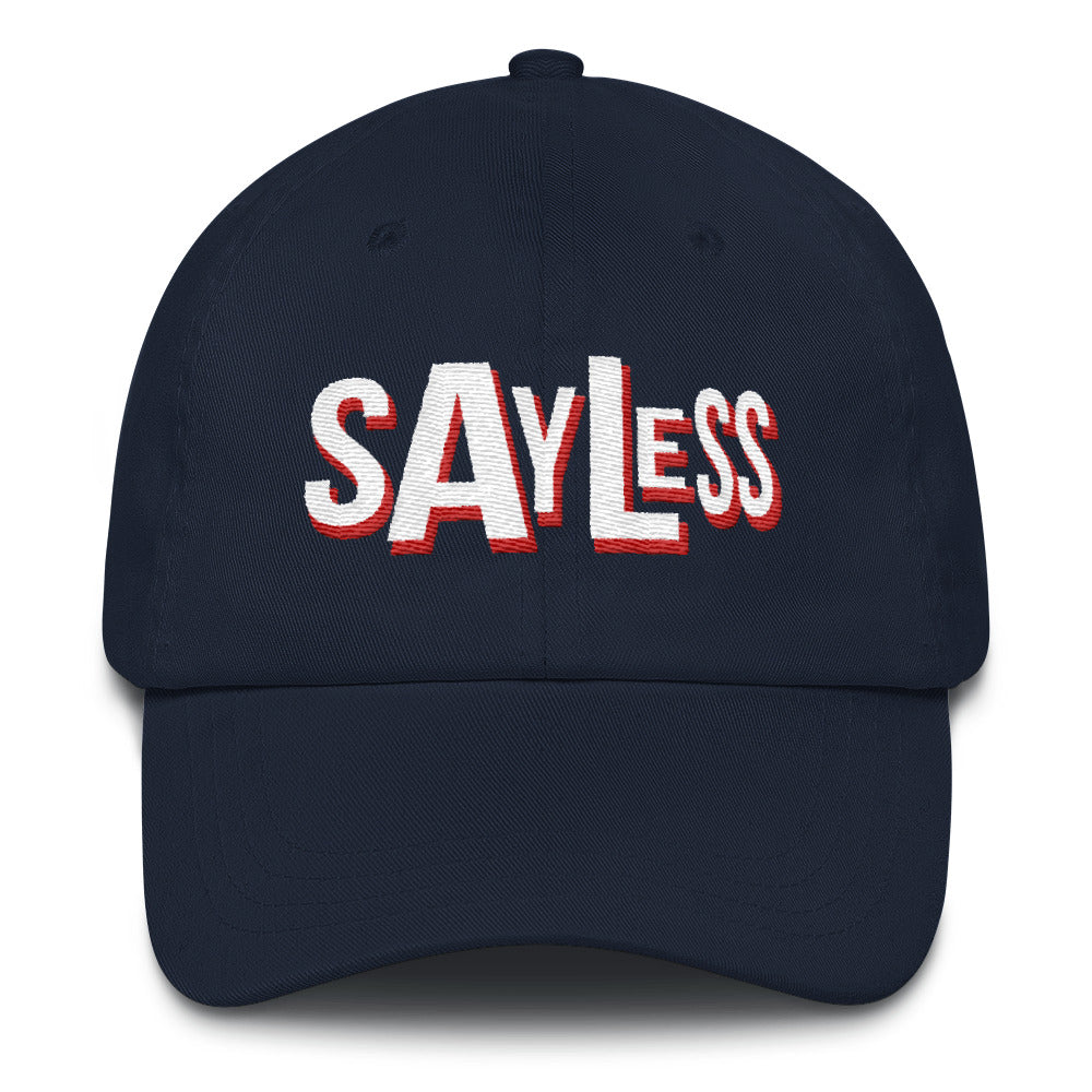 Say Less White Print Dad Hats |  | BFY Apparel | Streetwear & More