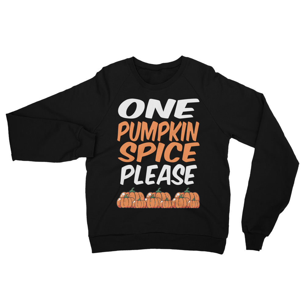 Pumpkin Spice Unisex California Fleece Raglan Sweatshirt | Sweatshirt | BFY Apparel | Streetwear & More