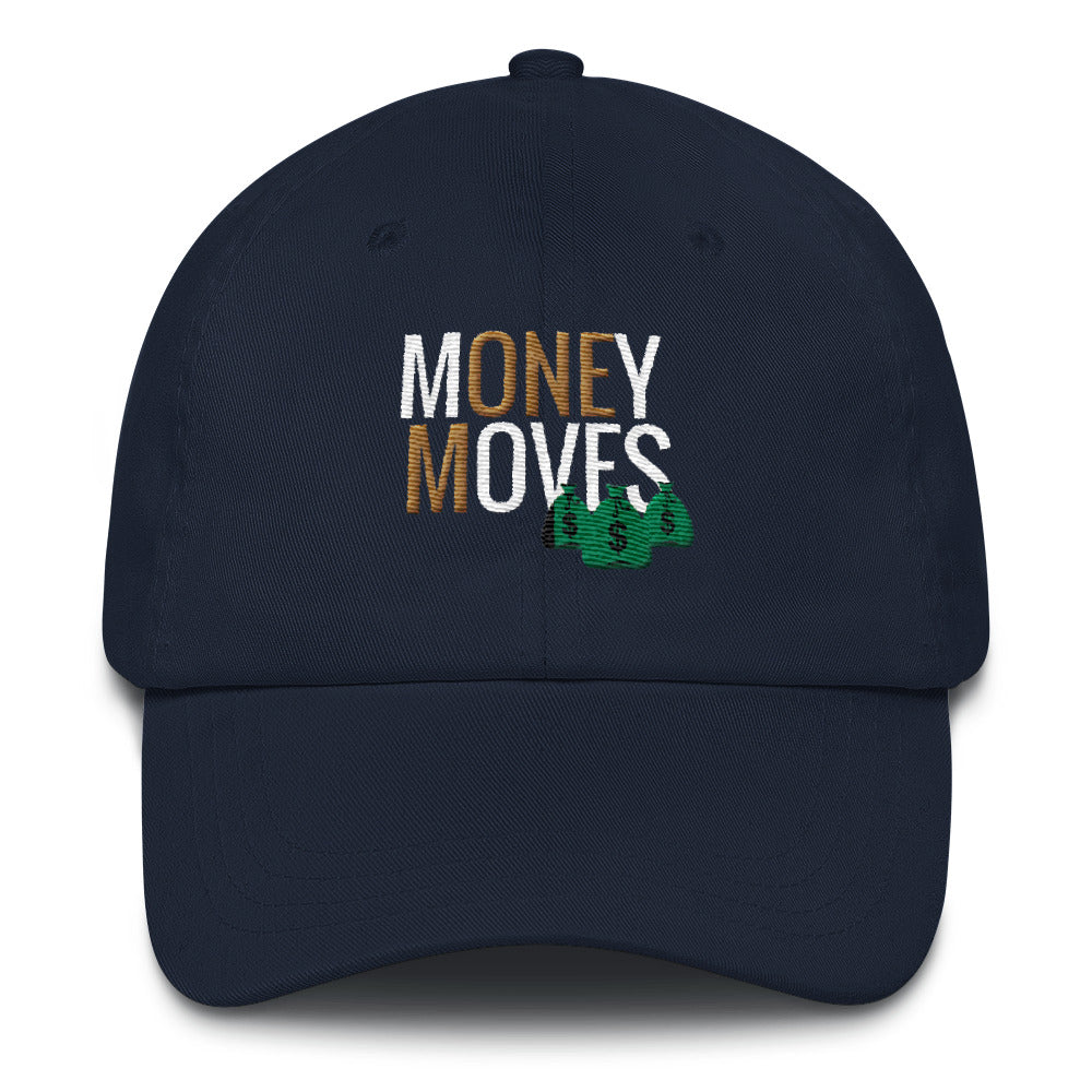 Money Moves w/ Money Bags Dad Hats |  | BFY Apparel | Streetwear & More