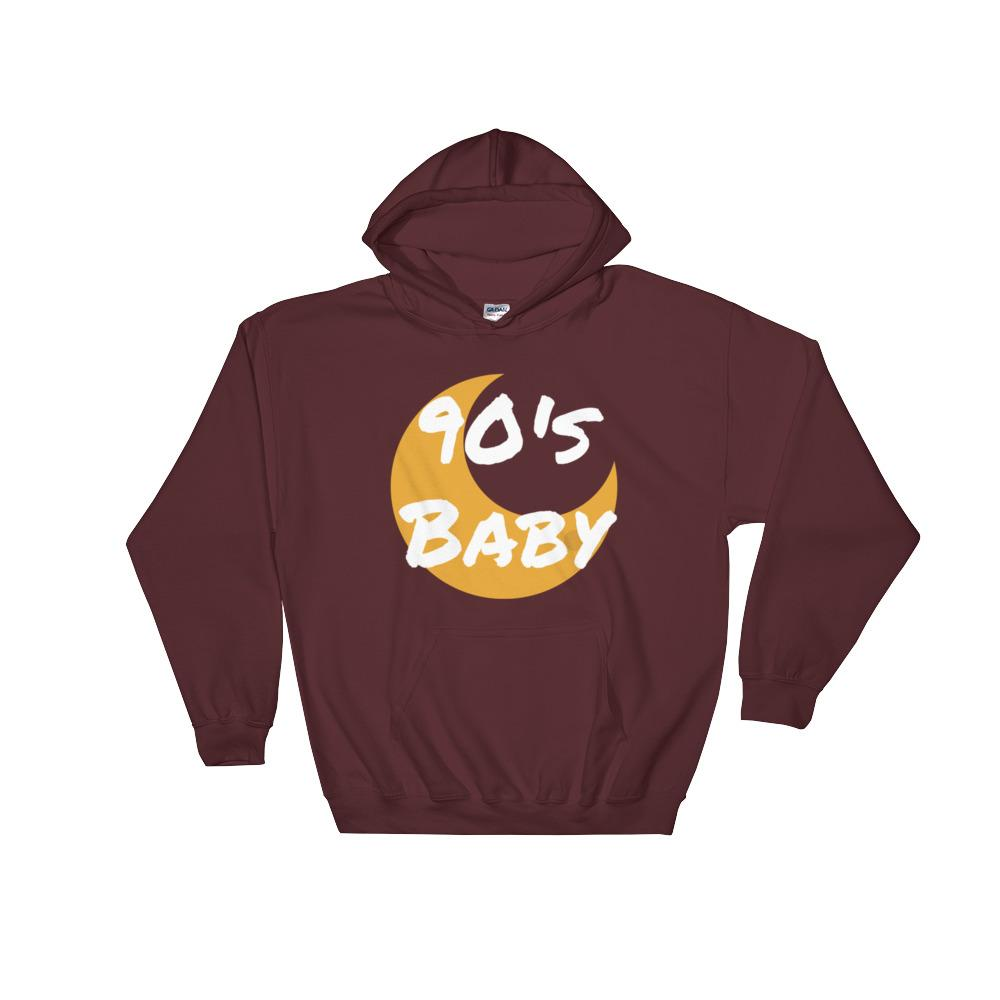 90's Baby Moon Hooded Sweatshirt - BFY Apparel | Streetwear & More