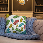 Tropical Leaves Square Pillow