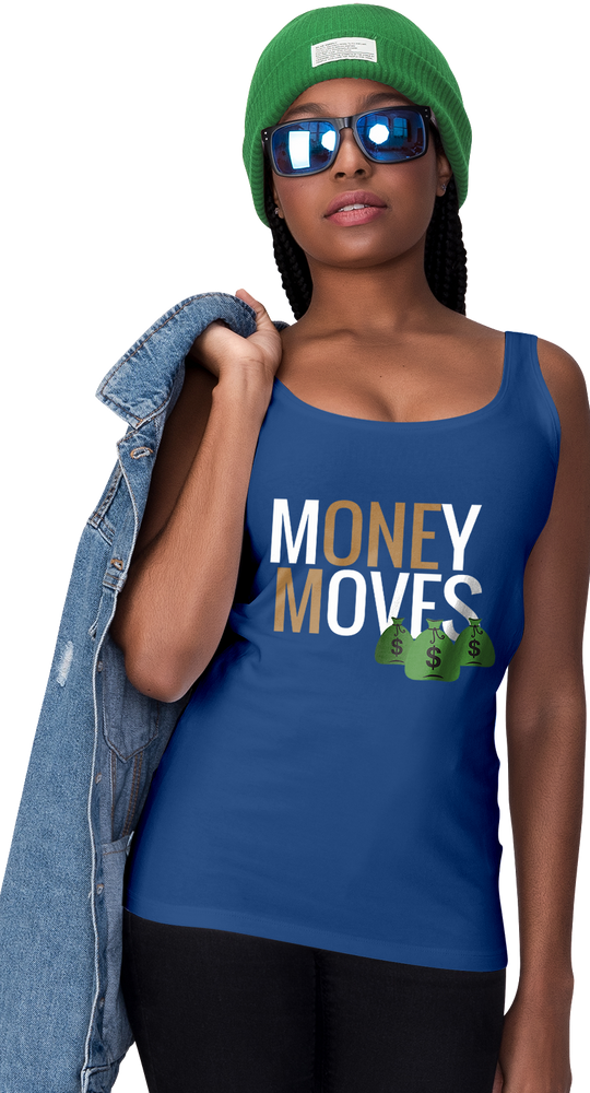 Money Moves w/ Money Bags Women's Racerback Tanks |  | BFY Apparel | Streetwear & More
