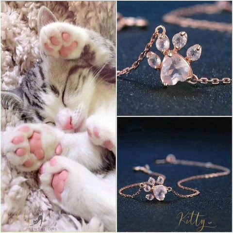 cat paw bracelet collage