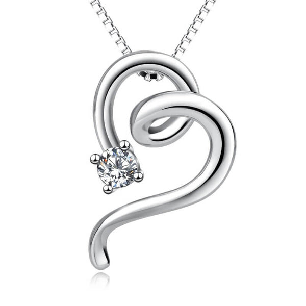 sterling silver cat necklace on white background