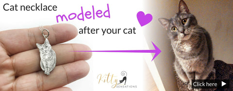 cat necklace modeled after your cat kittysensations