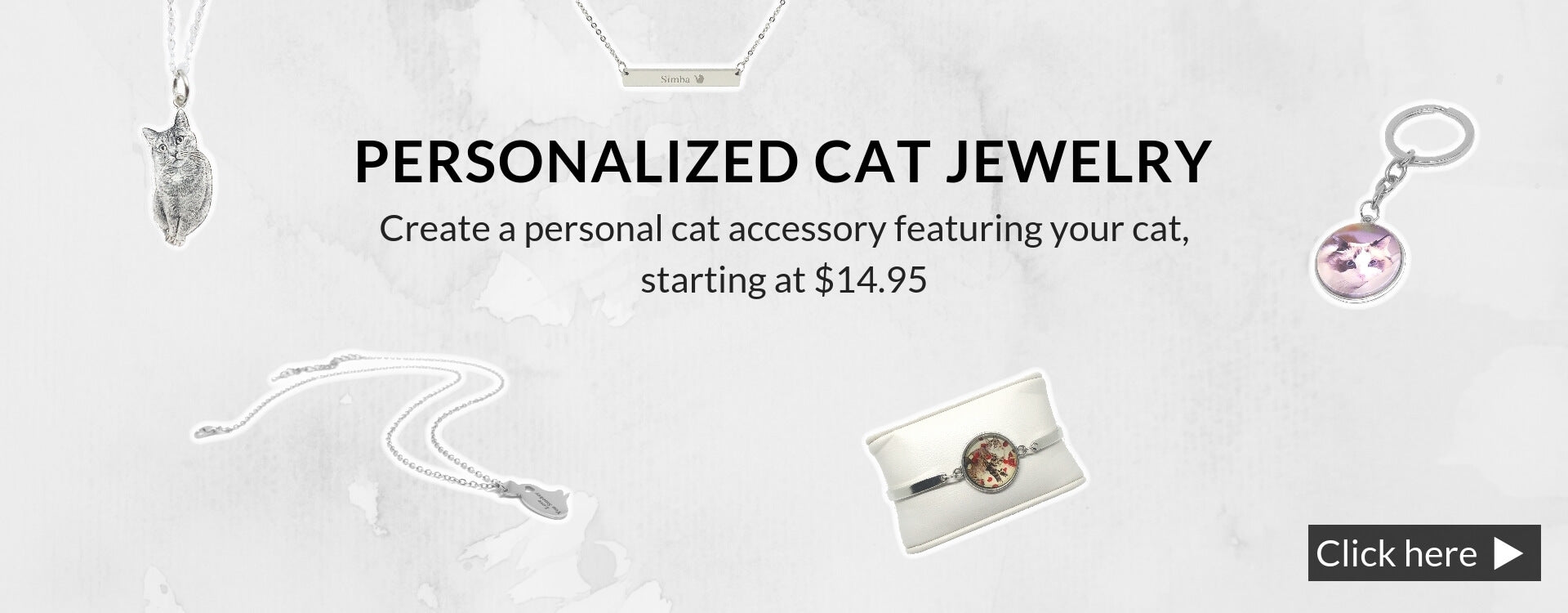 personalized cat jewelry banner