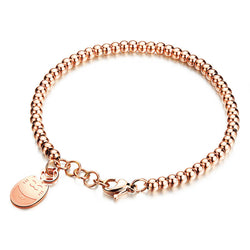 cat charm bracelet plated in rose gold kittysensations