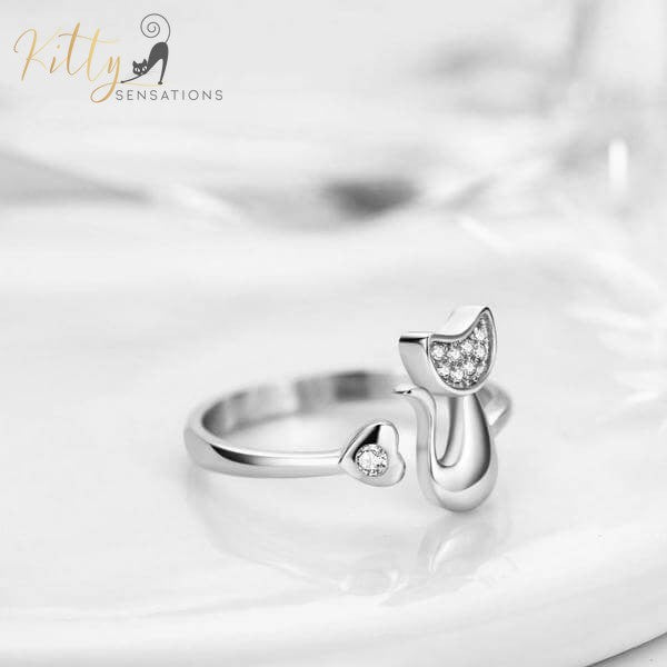 Cubic Zirconia Ring Plated in 925 Sterling Silver