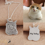 custom photo cat necklace with engraving kittysensations