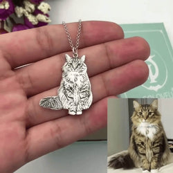 custom photo cat necklace with engraving kittysensations 14824318