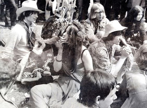 Hippies at Glastonbury