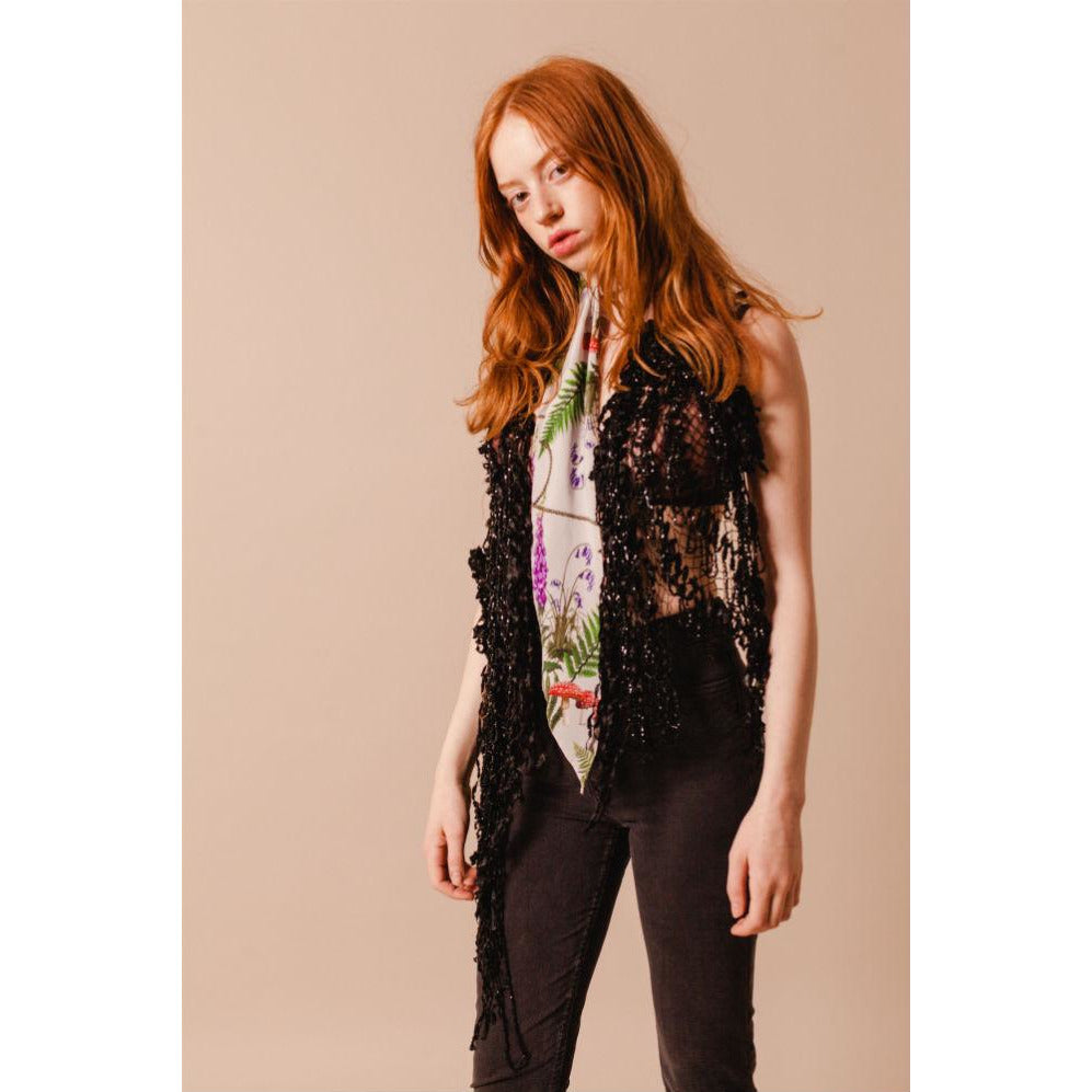 Magic Meadow Super Skinny Scarf Model