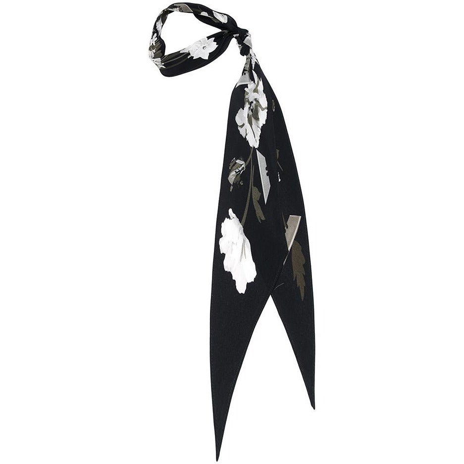 Flora Super Skinny Scarf black and white