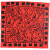 Locks Bandana Silk Red detail