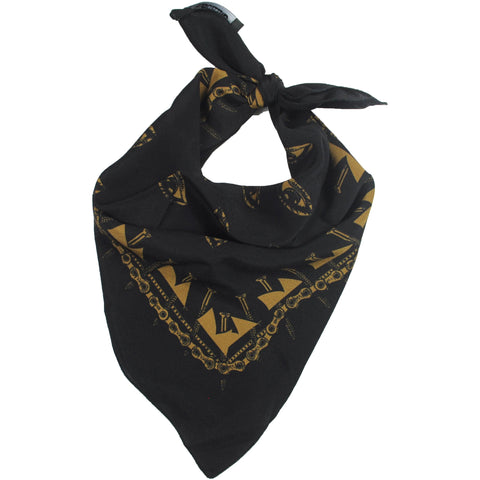 Eyes Bandana Black & Gold