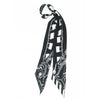 Locks Super Skinny Scarf Black and White