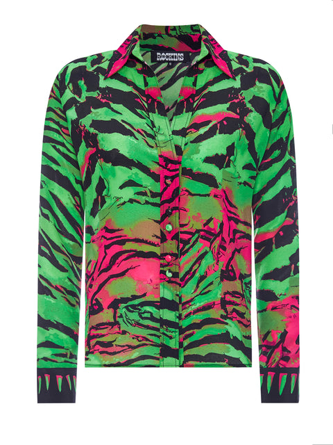 Acid Tiger Green Classic Shirt