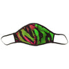 Acid Tiger Face Mask Green & Pink