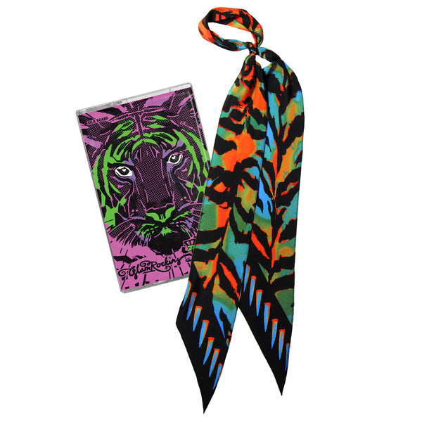 Acid Tiger Super Skinny Scarf Acid Tiger Blue & Orange