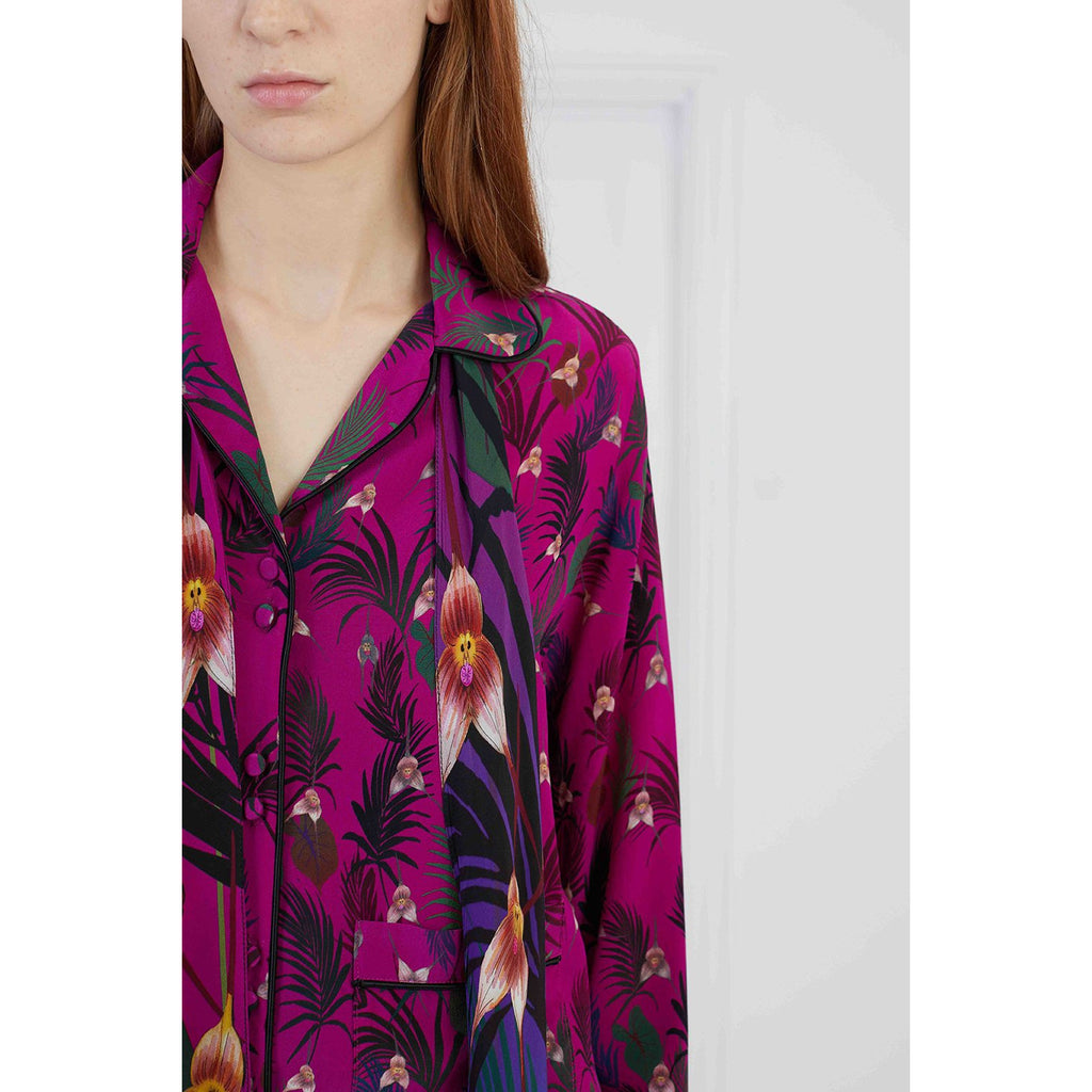 Pink Monkey Orchid Pyjama Top