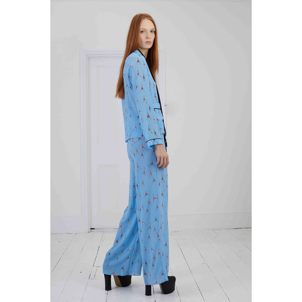 Monkey Orchid PJ Trouser Blue