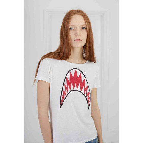 Shark Short Sleeve T-Shirt Off White