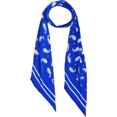 Rolling Stones Paisley Skinny Scarf Blue