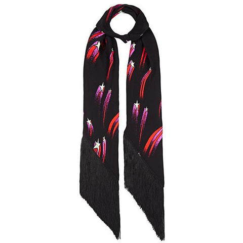 Shooting Stars Classic Skinny Fringed Scarf