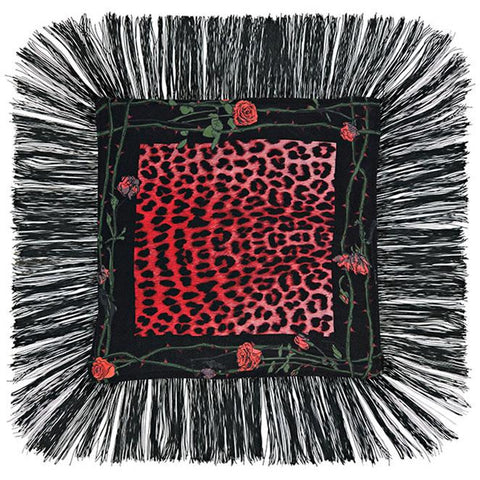 Rose Leopard Mini Throw Fuchsia