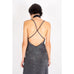 Long Slip Dress Silver