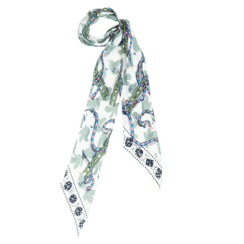 Snakes & Ladders Super Skinny Scarf Ivory