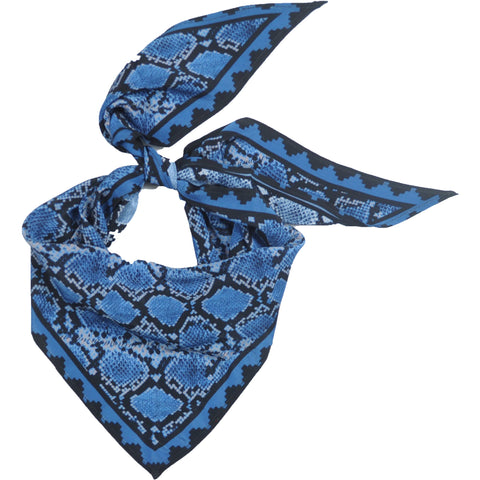Snakeskin Neckerchief Blue
