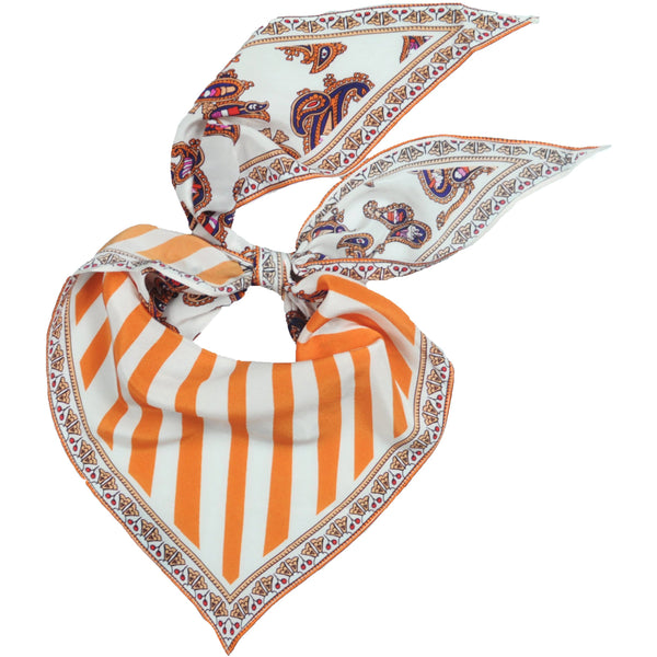 Ice Cream Paisley Neckerchief Ivory