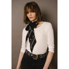 Nightflower Classic Skinny Scarf Model Shot Upper Body