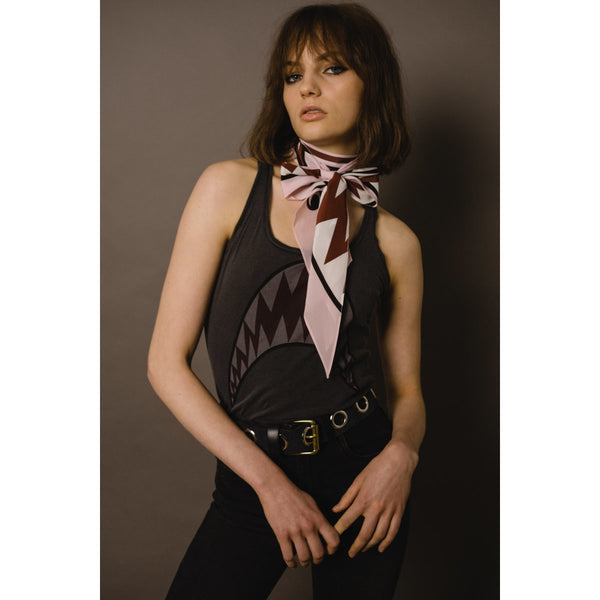 Shark Classic Skinny Scarf Pink
