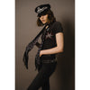 Rose Leopard Classic Skinny Fringed Scarf Midnight Model Shot