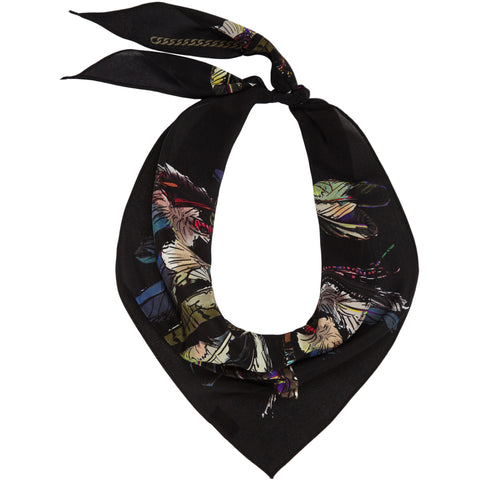 Feathers Neckerchief Black