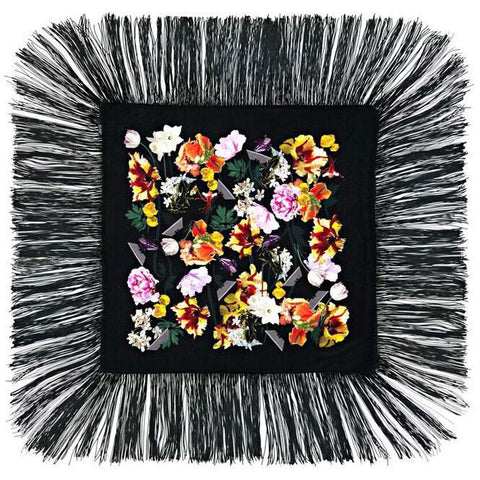 Flora Mini Throw Black