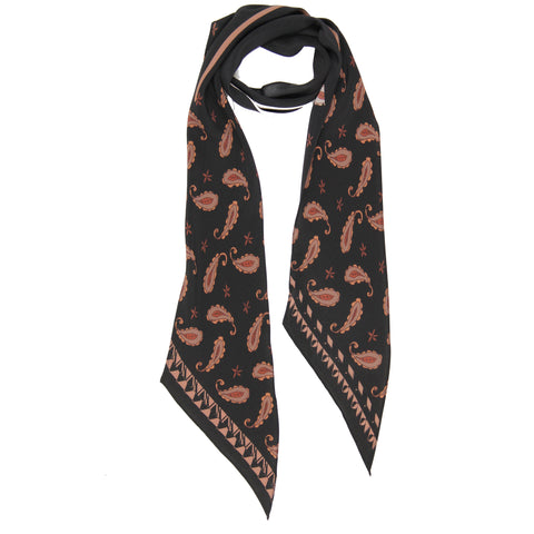 Guava Paisley Classic Skinny Scarf