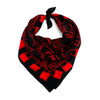 Locks Bandana Silk Black & Red