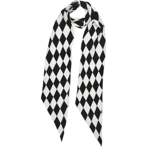 Harlequin Classic Skinny Scarf Ivory