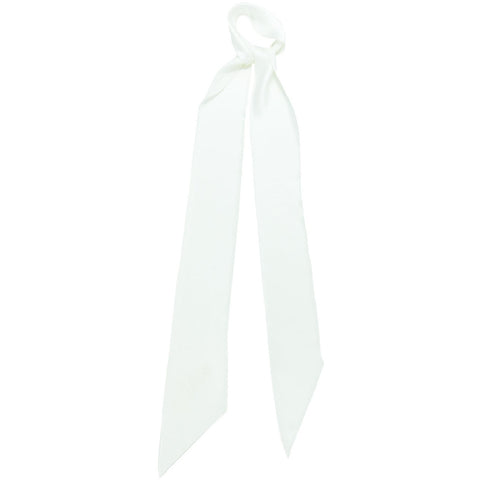 Plain Satin Super Skinny Scarf White