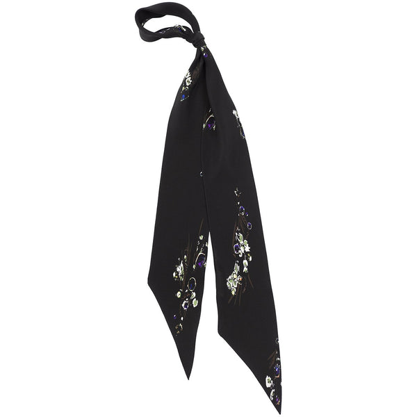 Jewelled Posy Super Skinny Scarf Black - NEW!