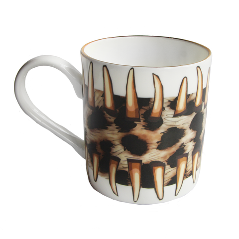 Leopard Teeth Gold Mug
