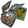 Leopard Teeth Neckerchief Gold