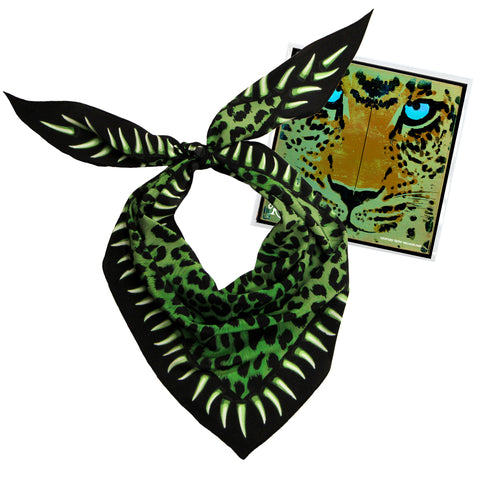 Leopard Teeth Neckerchief Green